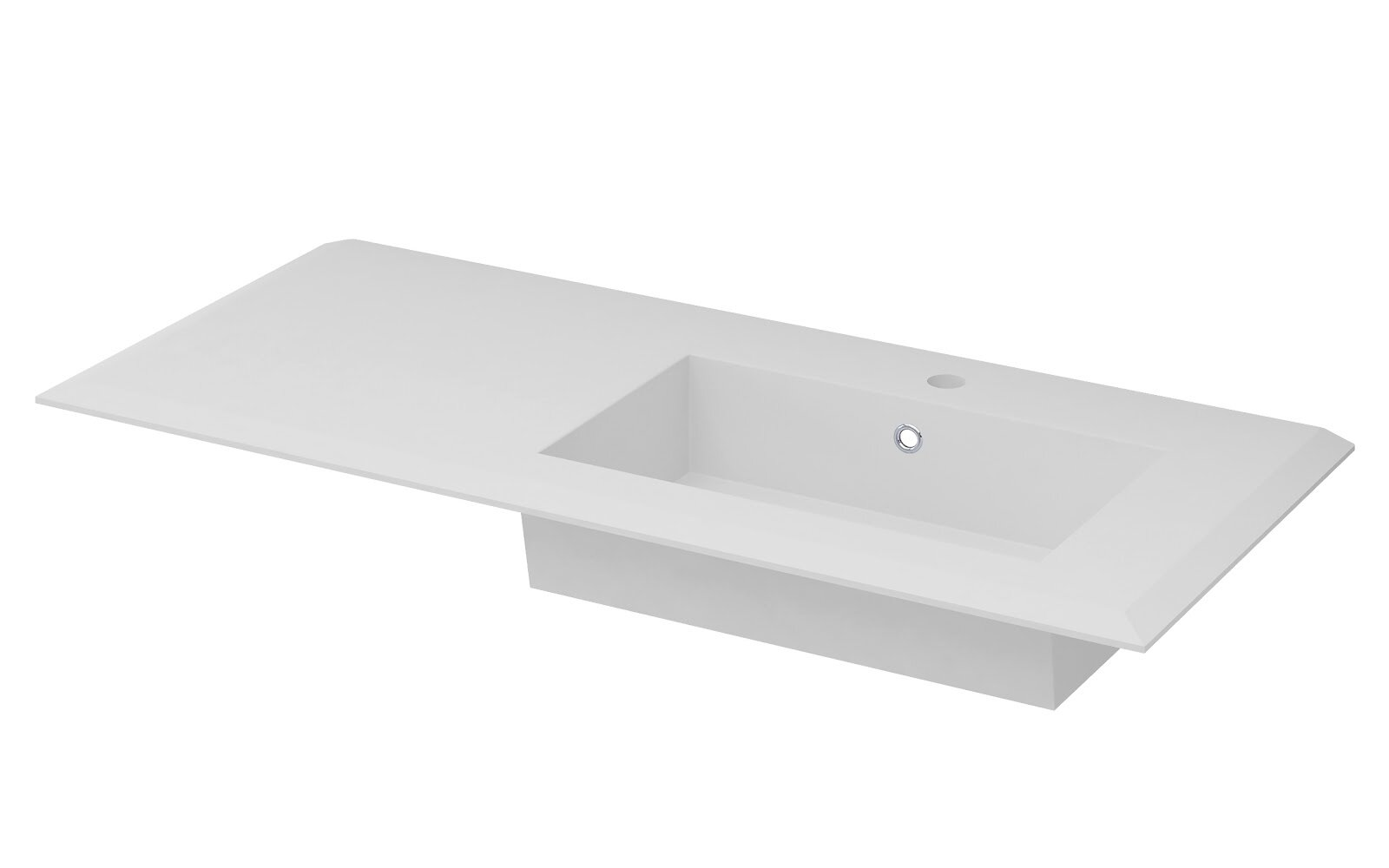 Latitude Run Walbrook Square Drop In Bathroom Sink With Faucet And Overflow Wayfair