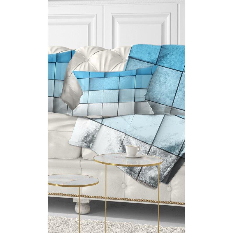 East Urban Home Mosaic Cubes Contemporary Lumbar Pillow Wayfair