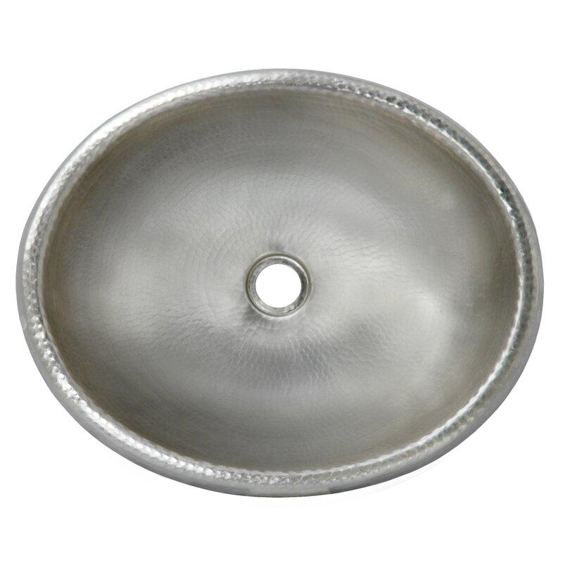 Rolled Metal Oval Drop-In Bathroom Sink