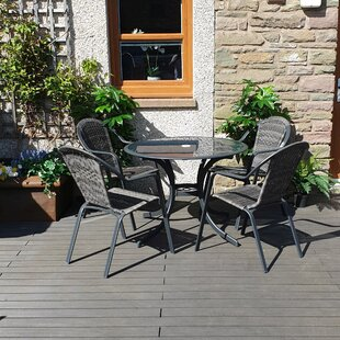 Amaranthine 4 Seater Dining Set By Sol 72 Outdoor