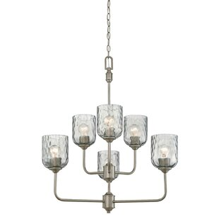 Manalapan Indoor 6-Light Shaded Chandelier by Latitude Run
