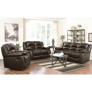 Red Barrel Studio Iraheta 3 Piece Leather Living Room Set