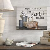 Romola Begin Each Day With A Grateful Heart by Susie Boyer - Print on Canvas