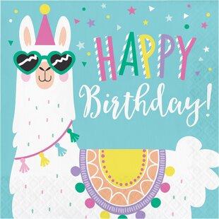 Llama Party Happy Birthday 6