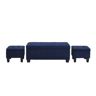 Hirsh 3 Piece Storage Ottoman Set by Andover Mills