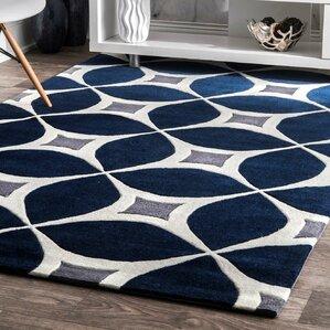 navy green rug area rugs | wayfair
