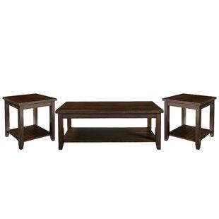 Winston Porter Mereworth 3 Piece Coffee Table Set