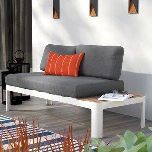 Brayden Studio Lyke Teak Loveseat with Cushions