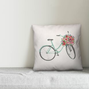 Vintage Bicycle Life is an Adventure...Enjoy the Ride Pillow