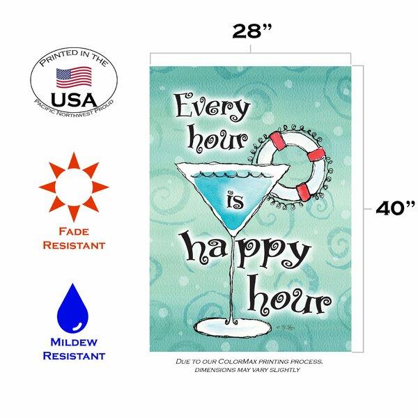 Toland Home Garden Happy Hour 28 X 40 Inch House Flag Wayfair
