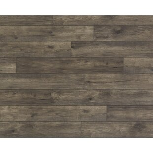 Restoration Wide Plank 8'' x 51'' x 12mm Hickory Laminate Flooring in Stone