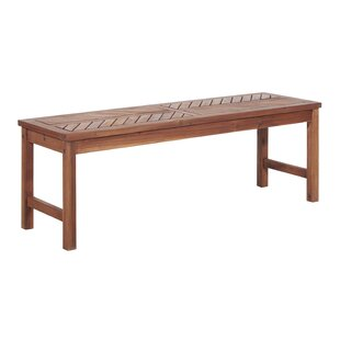 Manseau Wooden Picnic Bench by Millwood Pines