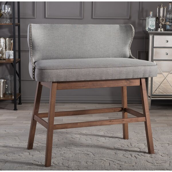 Upholstered Bar Bench | Wayfair