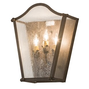 Inexpensive Valleystone 3-Light Outdoor Flush Mount By Canora Grey