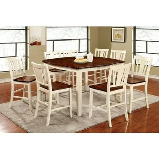 Moon Counter Height 9 Piece Pub Table Set Winston Porter