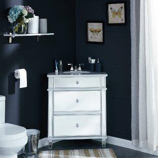 Mirrored Corner 29 Single Bathroom Vanity Set ByHome Loft Concepts
