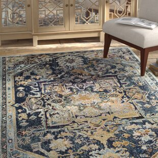 Reviews Mcintosh Boho Navy Area Rug by Bloomsbury Market