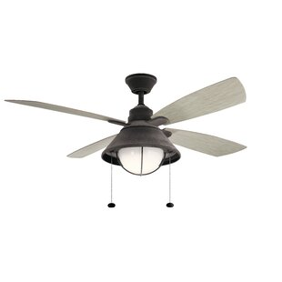 Best Price 54 Menendez 4 Blade Outdoor LED Ceiling Fan By Longshore Tides