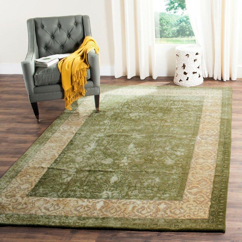 Safavieh Silk Road Oriental Handmade Tufted Wool Green Area Rug Reviews Wayfair