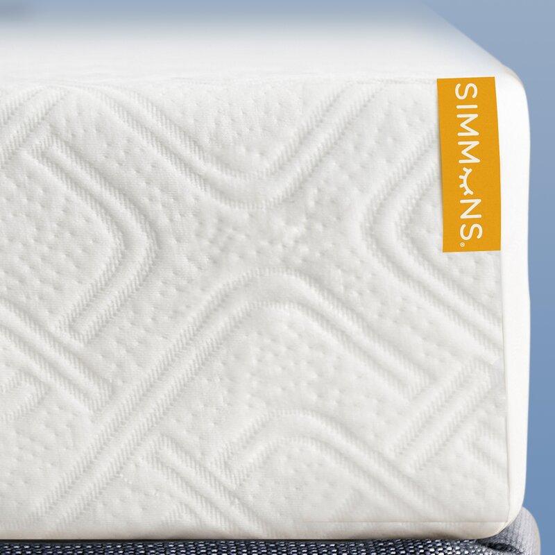 "Simmons 8"" Medium Gel Memory Foam Mattress & Reviews | Wayfair"