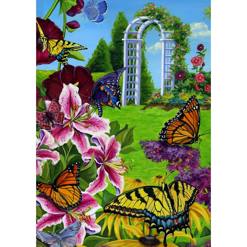 Butterflies In The Garden Garden flag