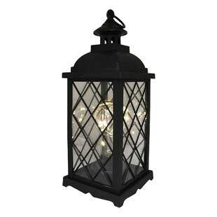 Check Prices Priscila Battery-Operated 1 Light LED Outdoor Hanging Lantern By Charlton Home
