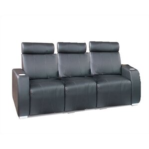 Executive Home Theater Sofa (Row of 3) by Bass