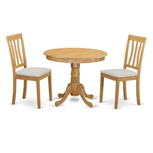 3 Piece Bistro Set East West Furniture