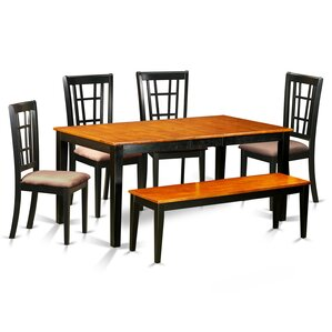 Nicoli 6 Piece Dining Set by East West Fu..