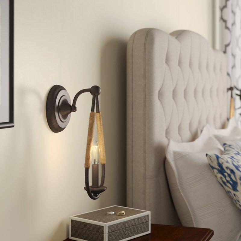 Frye 1-Light Candle Wall Light