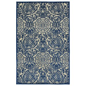 Covedale Machine Woven Blue Indoor Outdoor Area Rug