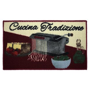 Textured Loop Cucina Tradizone Kitchen Area Rug by Structures