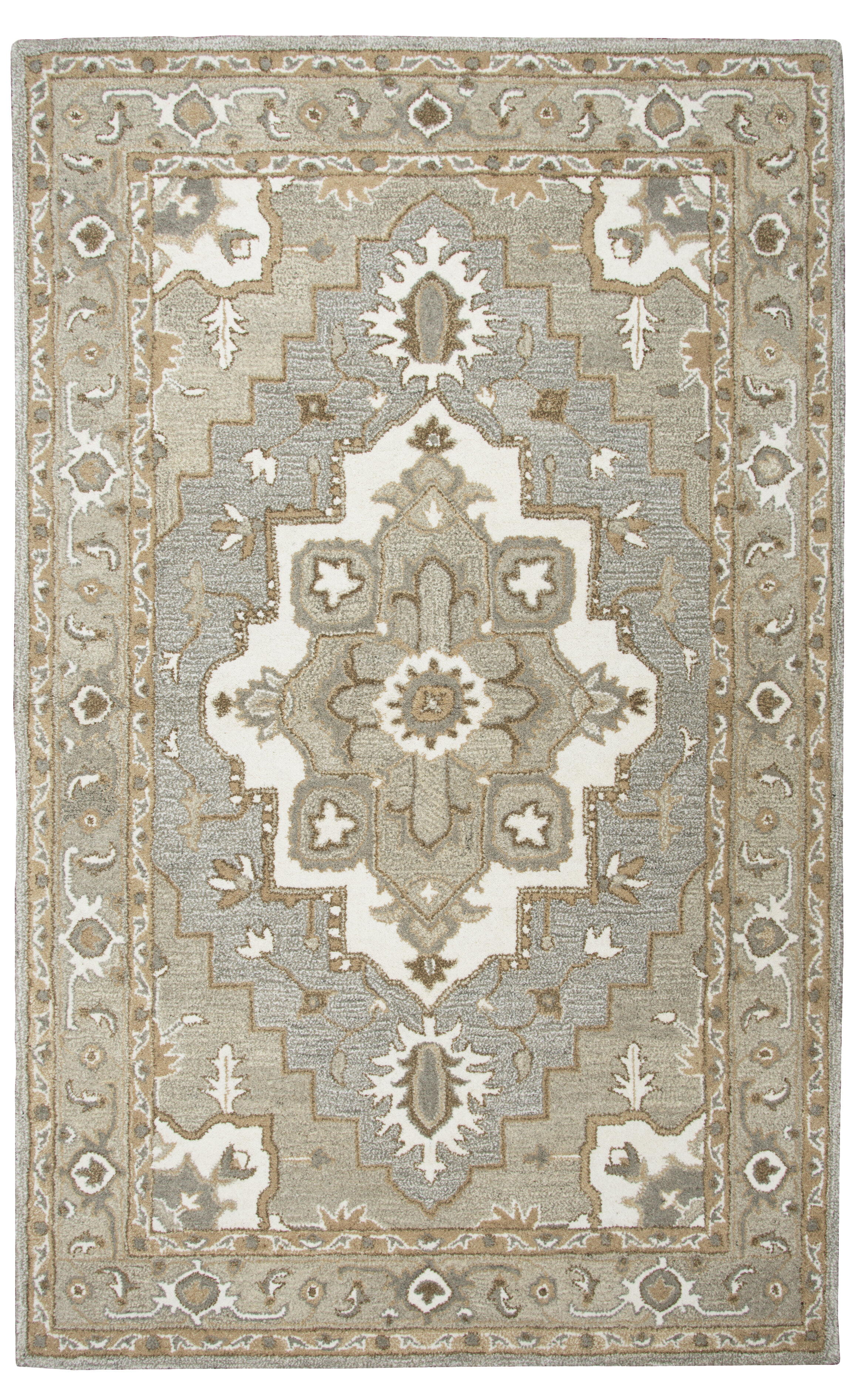 Astoria Grand Byron Hand Tufted Wool Gray Area Rug Wayfair