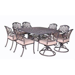 Gunter 9 Piece Dining Set with Cushions