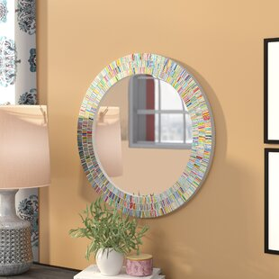 Find Plummer Round Rainbow Bathroom/Vanity Wall Mirror By Zipcode Design