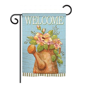 Welcome Watering Can Inspirational Sweet Home Impressions Decorative Vertical 13 X 18.5 Double Sided Garden Flag Set by Breeze Decor