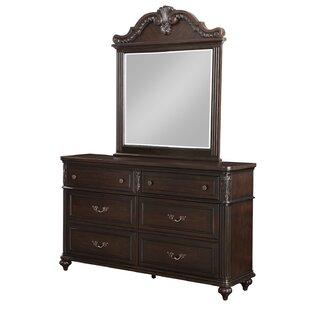 Michaud 6 Drawer Double Dresser with Mirror