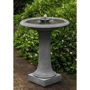 Campania International Camellia Birdbath Fountain