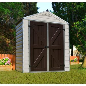 SkyLightu0099 6 ft. 1 in. W x 3 ft. 4 in. D Plastic Storage Shed