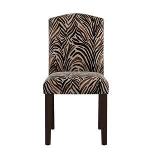 Genevie Arched Washed Zebra Side Chair by Bloomsbury Market