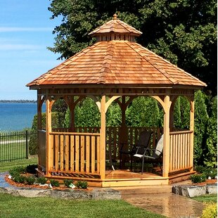 Outdoor Living Today Bayside 12 Ft. W x 13 Ft. D Solid Wood Patio Gazebo