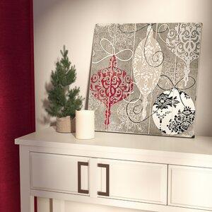 Silver Ornaments Graphic Art Plaque
