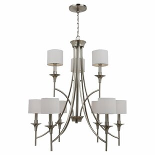 Alcott Hill Foland 9-Light Shaded Chandelier