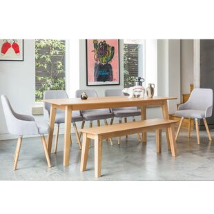 Faldo Dining Set With 5 Chairs And 1 Bench