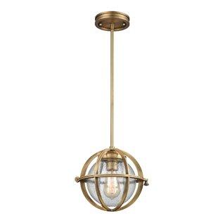 Robbinsdale 1-Light Globe Pendant by Breakwater Bay