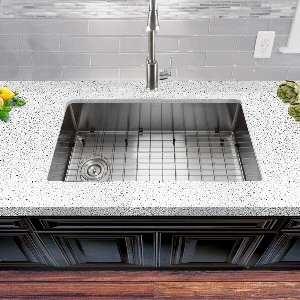 Nantucket Sinks Pro Series 32 X 18 Undermount Kitchen Sink Reviews Wayfair