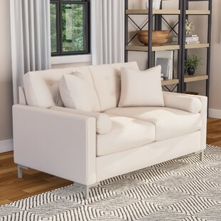 "Harper Loveseat With Metal Legs by Wayfair Custom Upholsteryâ""¢"