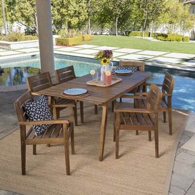 Brien 7 Piece Dining Set
