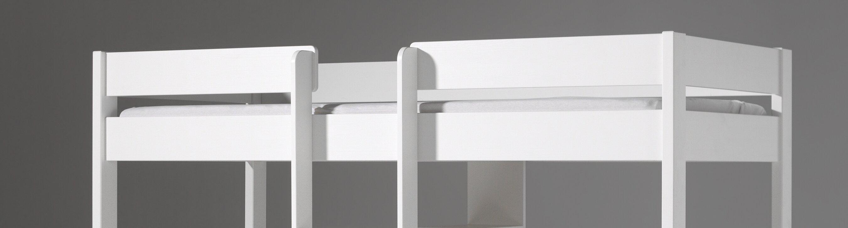 vipack hochbett pino mit schreibplatte und sesselbett 90. Black Bedroom Furniture Sets. Home Design Ideas