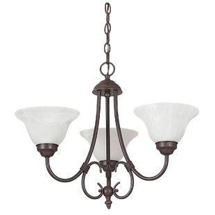 Fleur De Lis Living Westphal 3-Light Shaded Chandelier